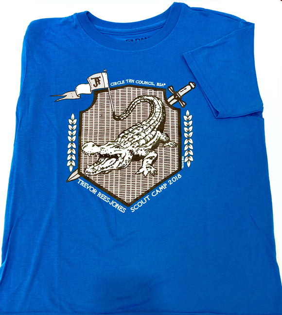 TRJ T-Shirt - Gator on Shield - Blue