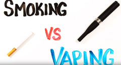 Smoking versus Vaping Diagram