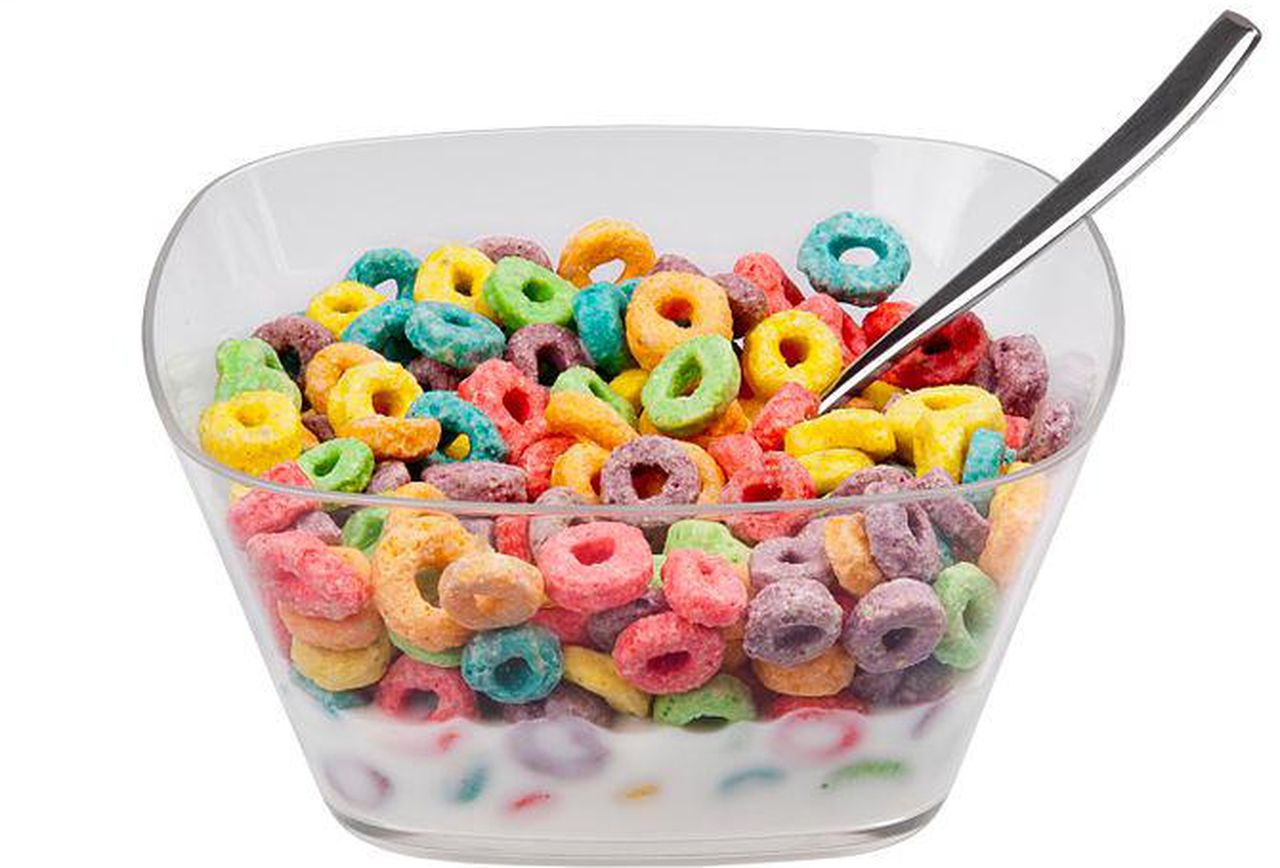 Bowl filled with cereal