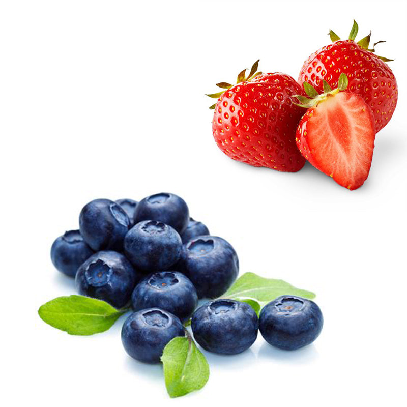 Blueberry and strawberries