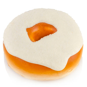 glazed doughnut with cream cheese icing