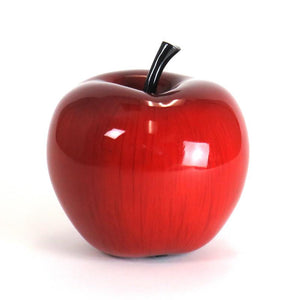Shiny red apple