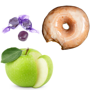 Voodoo-Apple, Grape Candy and Glazed Doughnut