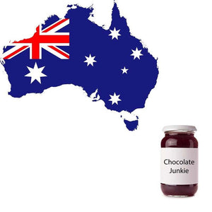 Map of Australia and chocolate jar