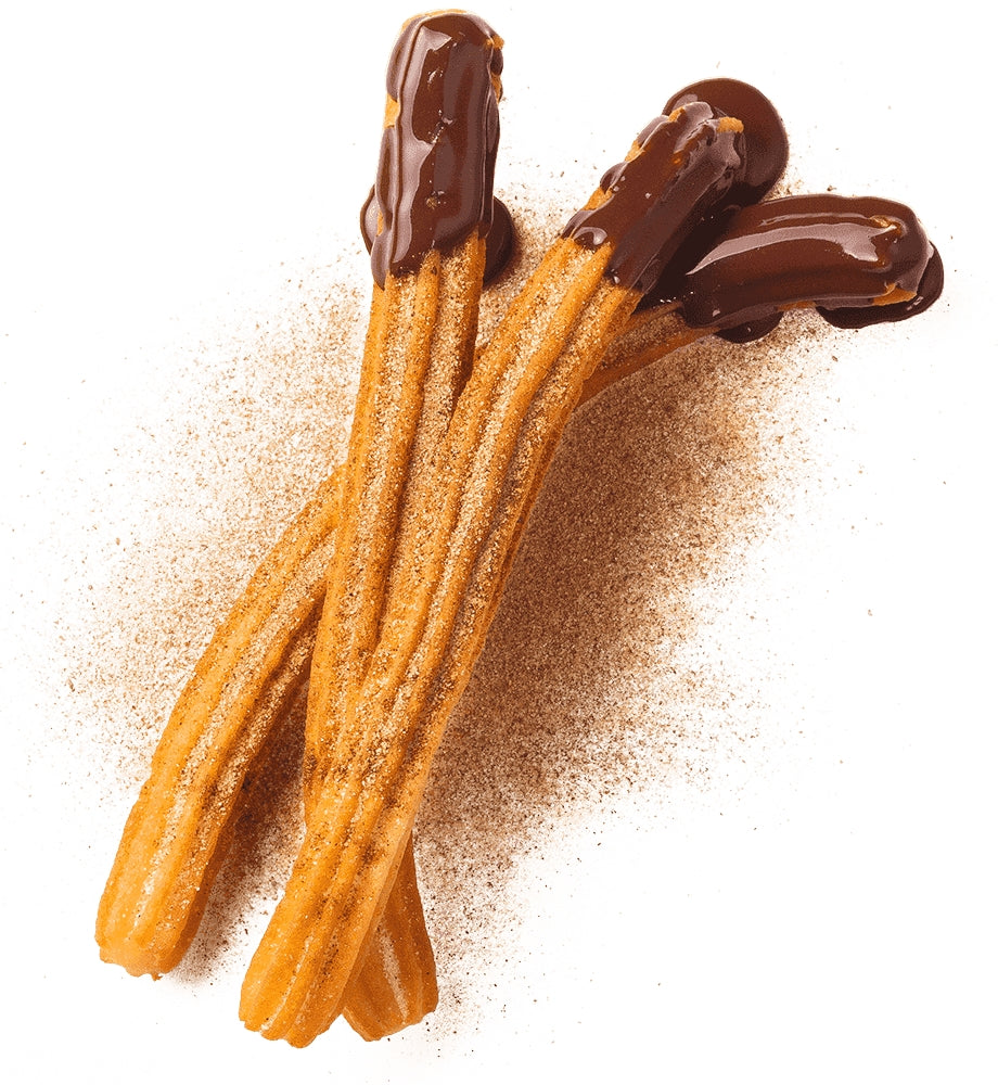 Cinnamon Churros dipped in chocolate