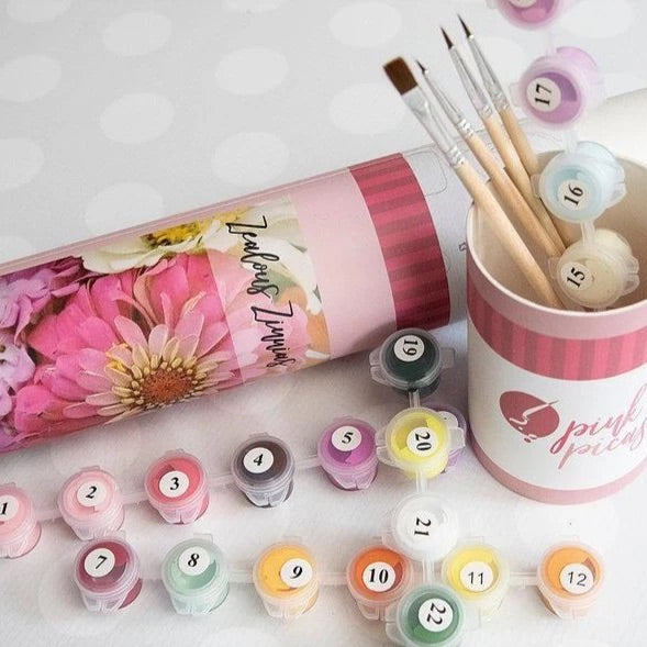 Pink Picasso Petals for Me DIY paint kit