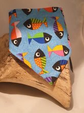 Load image into Gallery viewer, Reversible D Ring Bandana - Cartoon Cats