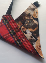 Load image into Gallery viewer, Reversible D Ring Bandana - Digital Dog