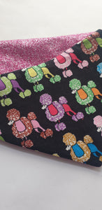 Reversible D Ring Bandana - Colourful Poodle/Glitter