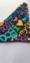 Load image into Gallery viewer, Reversible D Ring Bandana - I Love My Dog/Stars