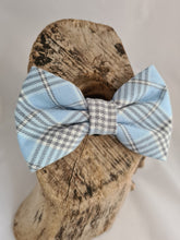 Load image into Gallery viewer, Baby Blue Plaid  Bow Tie