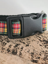 Load image into Gallery viewer, Buchanan Tartan Dog Collar 11-15inches