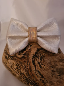 The Faux Leather Bow
