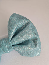 Load image into Gallery viewer, Aqua Blue Glitter Bow