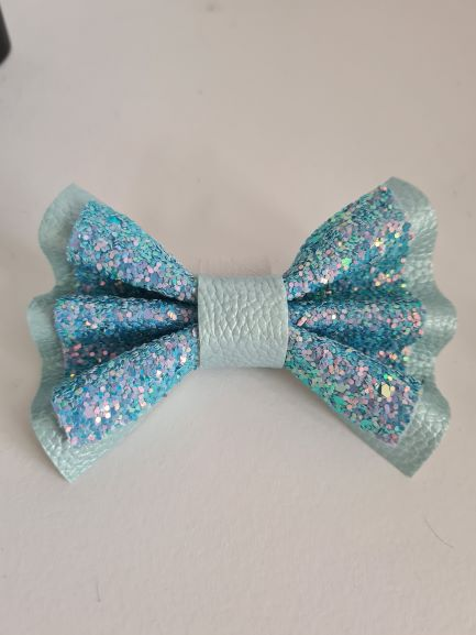 The Faux Leather Pinch Bow