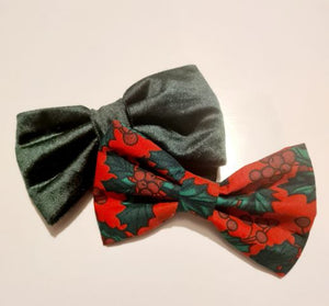 Christmas Holly Bow
