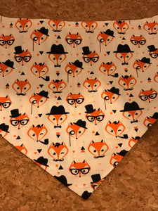 Reversible D Ring Bandana - Fox/Stripe