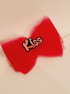 Cerise Kiss Net Bow