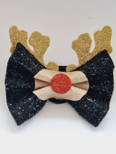 Load image into Gallery viewer, The Christmas Reindeer Pinch Bow