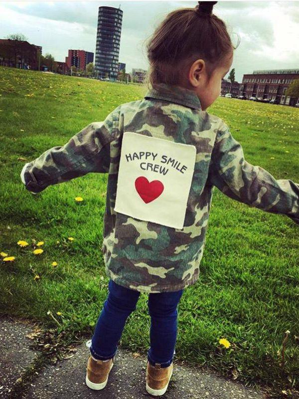 Happy Smile Camo Jacket