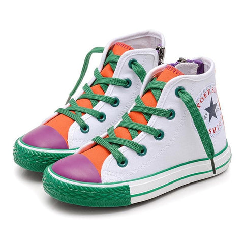 Multi-Color Patchwork High-Tops