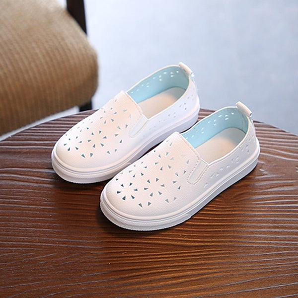 Perforated Leather Slip-Ons
