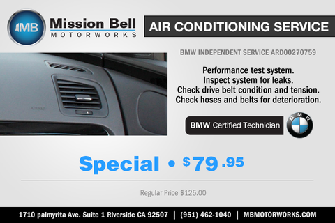 Auto Air Conditioning Repair and Climate Control Repair Service Riverside California | Mission Bell Motorworks