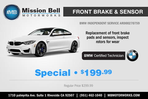 Break Repair Coupon Riverside California | Mission Bell Motorworks