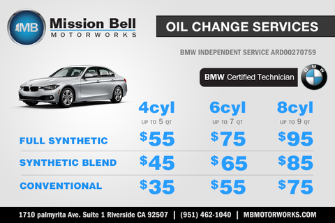 Oil Change Service Coupon Riverside California | Mission Bell Motorworks