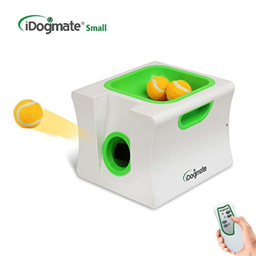 iDogmate Small Automatic Pet Dog Ball Thrower - Tennis Ball Launcher - Puppy or Small Dog Fetch - Ball Throwing Machine - Pet Dog Toy