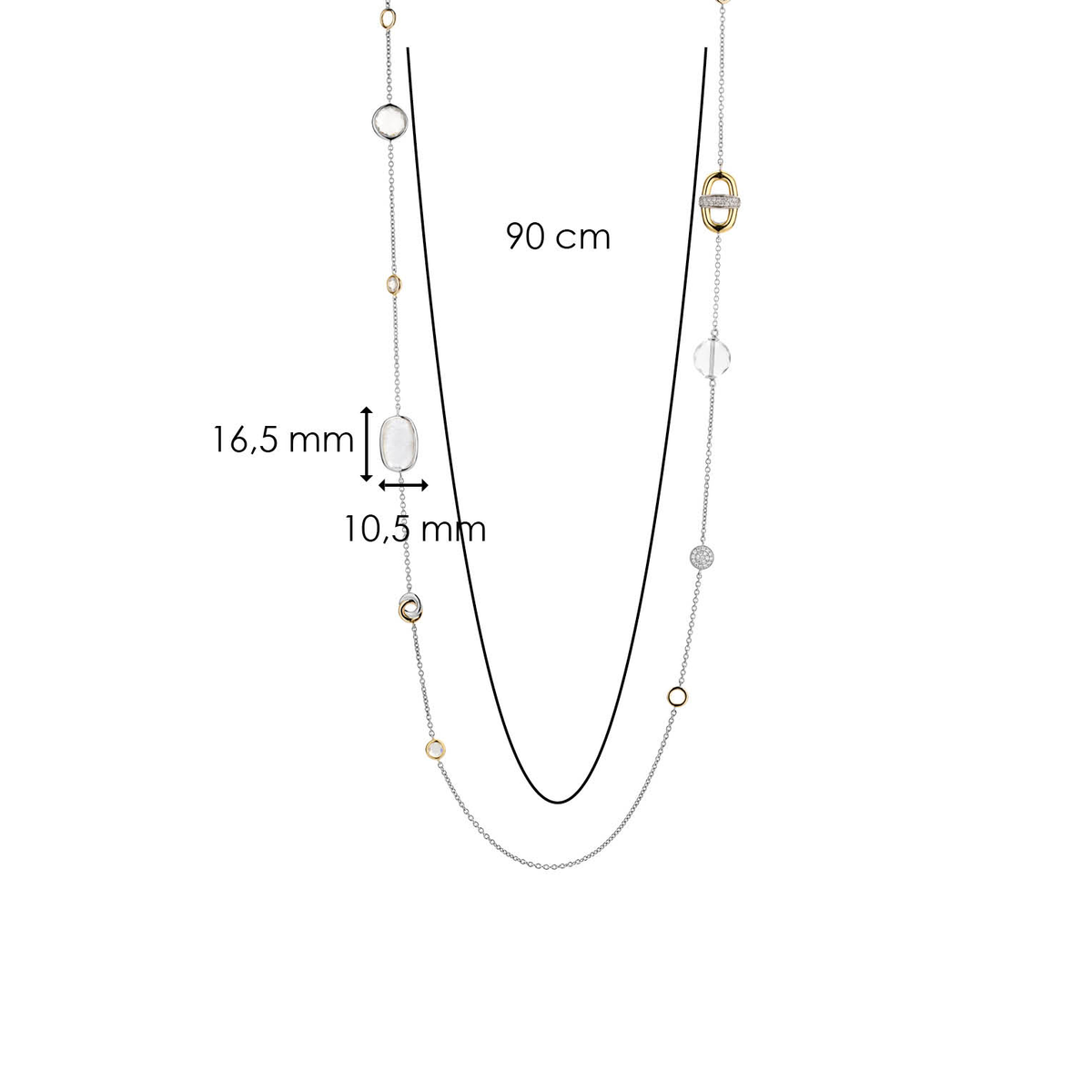 TI SENTO - Milano Necklace 3908MY