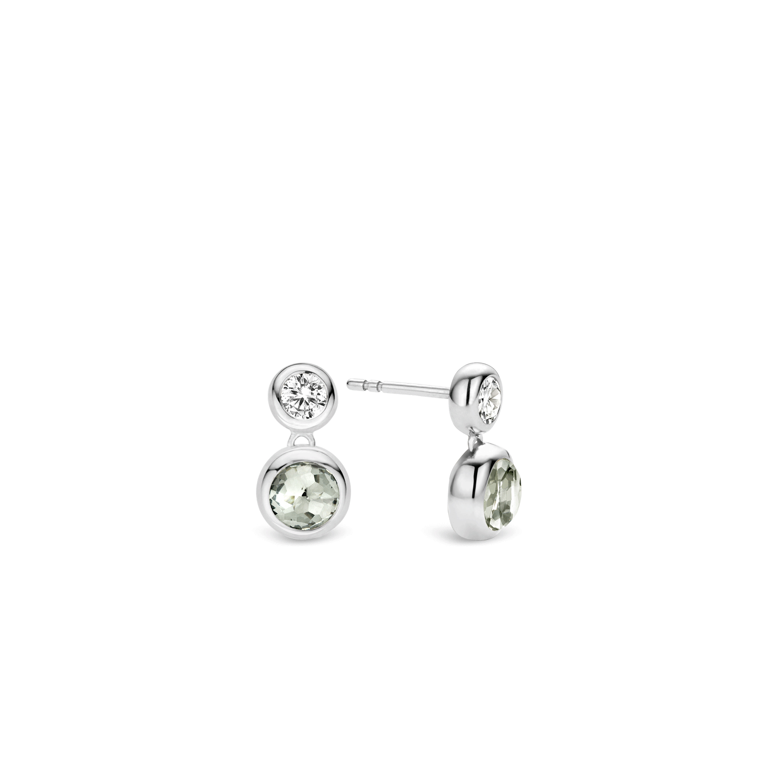 TI SENTO Milano Rhodium Plated Sterling Silver Earrings 7746GG dVLpYlGg