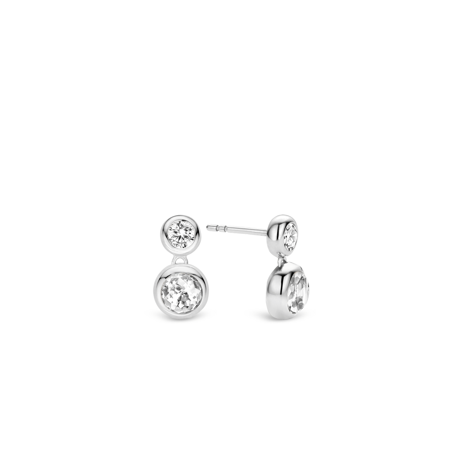 TI SENTO Milano Rhodium Plated Sterling Silver Earrings 7746GG