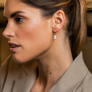 TI SENTO - Milano Earrings 7813MW in use