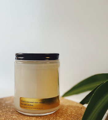 Sea Salt Orchid Coconut Wax Candle