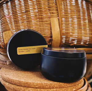 Matte Black Tin Candle