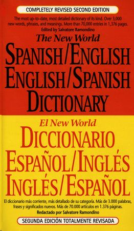 NEW WORLD SPANISH / ENGLISH DICTIONARY, RAMONDINO, SALVATORE - Hombre de la Mancha