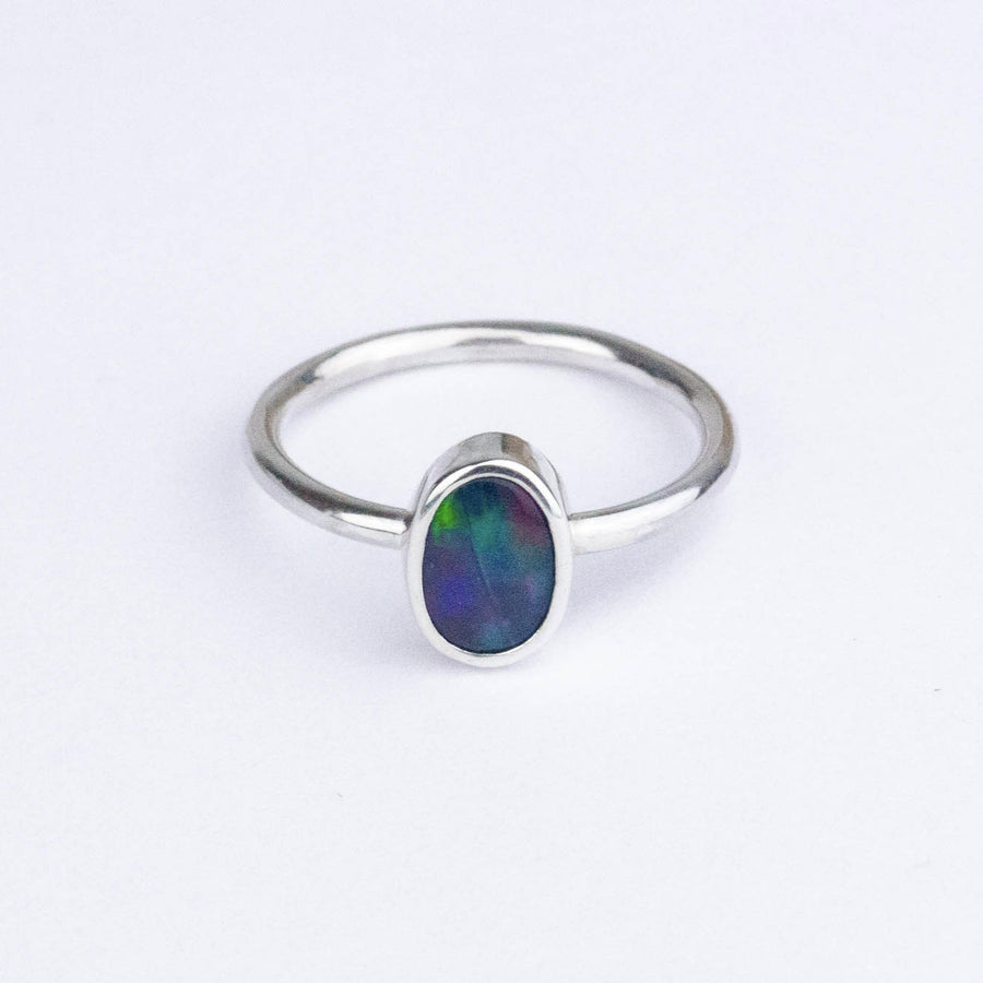 Black Opal Stacking Ring