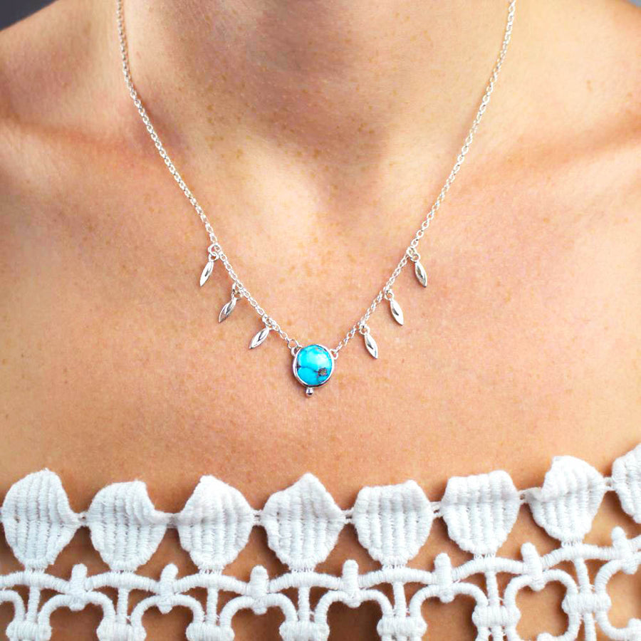 Cloud Mountain Turquoise Charm Necklace