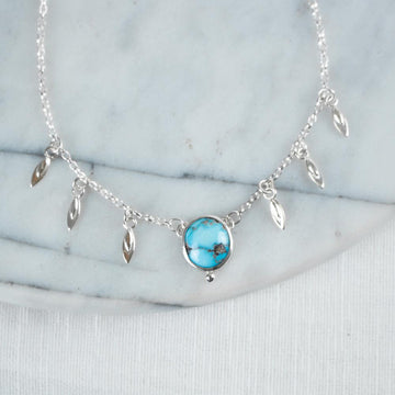 Cloud Mountain Turquoise Charm Neckace - Amy Jennifer Jewellery