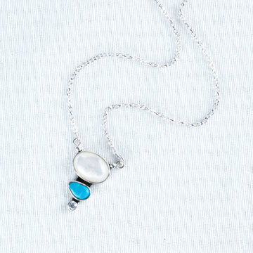 Mother of Pearl Droplet Necklace