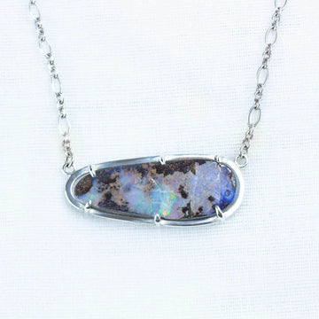 Floating Boulder Opal Necklace