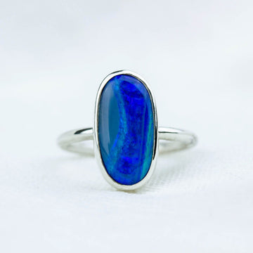 Coastline Blue Australian Opal Ring