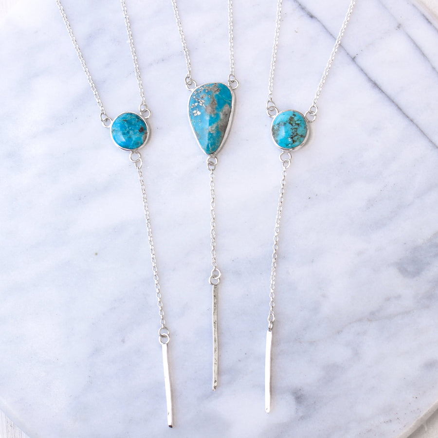Ocean Drop Lariat Necklace - Amy Jennifer Jewellery