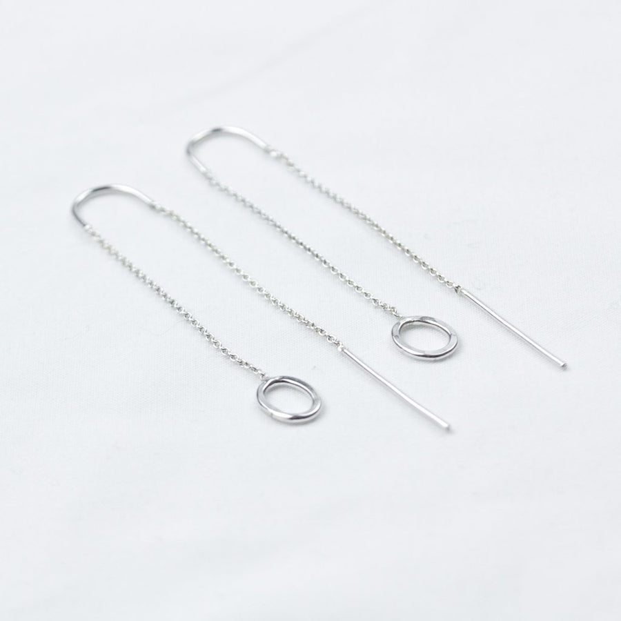 Silver Circle Threads - Amy Jennifer Jewellery