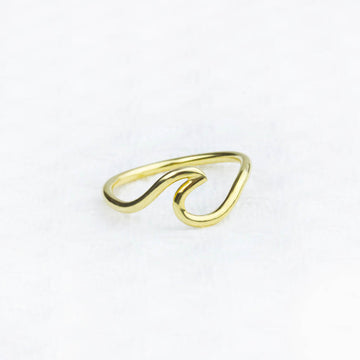 Gold Wave Ring- All Sizes