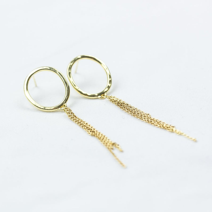 Gold Circle Studs Etc - Amy Jennifer Jewellery