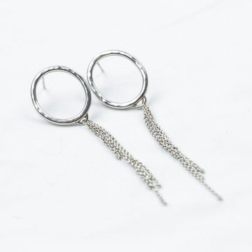 Silver Circle Studs etc - Amy Jennifer Jewellery