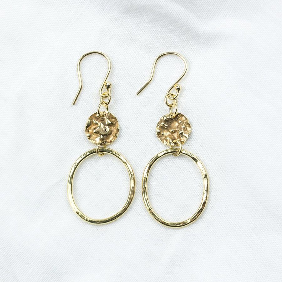 Golden Moon Earrings - Amy Jennifer Jewellery