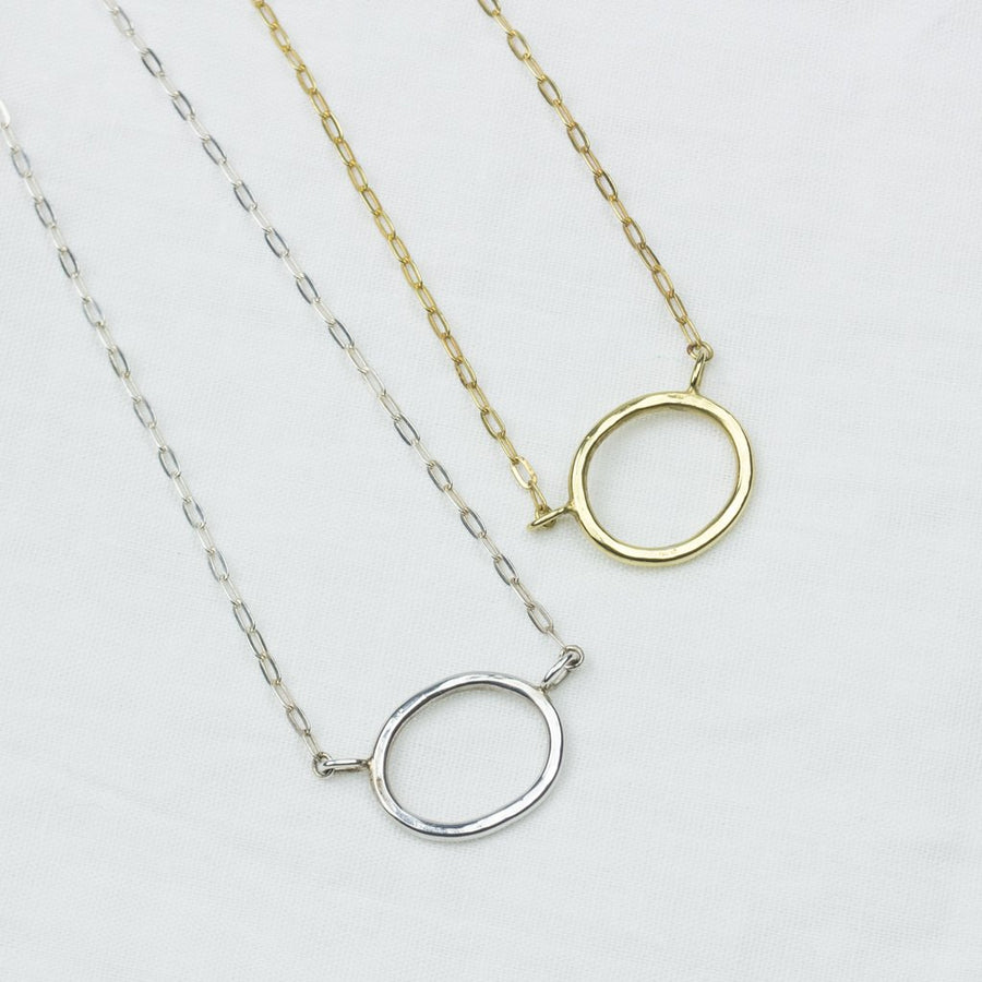 Silver Circle Choker - Amy Jennifer Jewellery